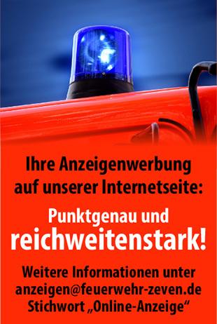 Werben auf der FF Zeven Seite Banner